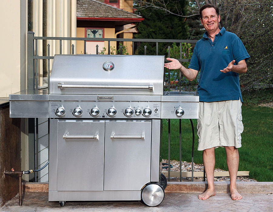 Review Of Costco KitchenAid Nexgrill 720 0856V BBQ Grill   HUGE!!! ; )