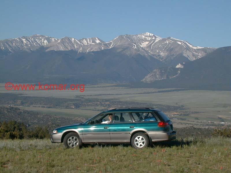 1998 subaru outback with colorado 14 ers mountains 1998 subaru outback with colorado 14 ers mountains