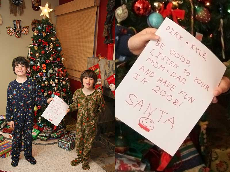 christmas santa note 2007 Christmas Blog