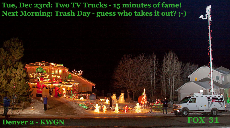 christmas two TV trucks
