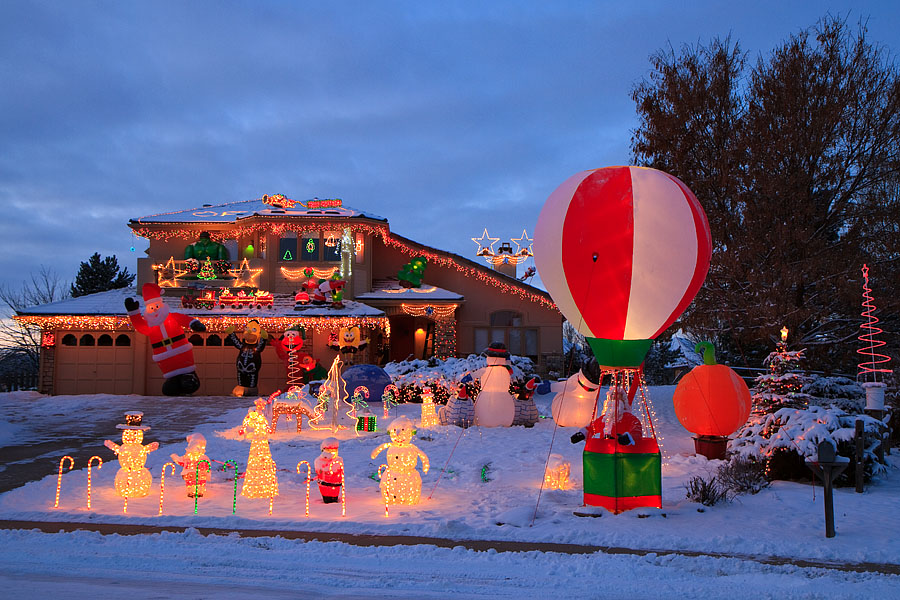 santa balloon home depot sunrise - Home Depot Christmas Decorations For The Yard