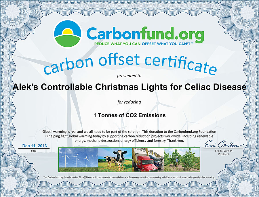 christmas carbonfund donation