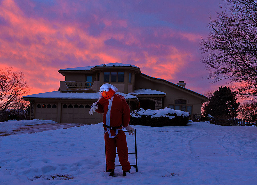 christmas santa elmo sunrise