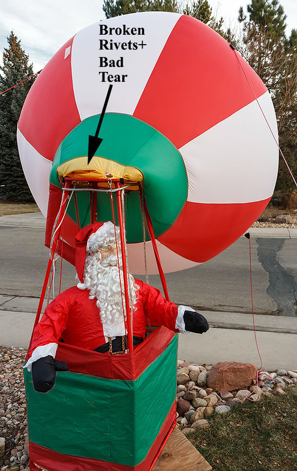 santa balloon broken