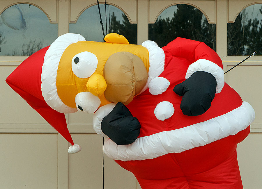 santa balloon homer sad