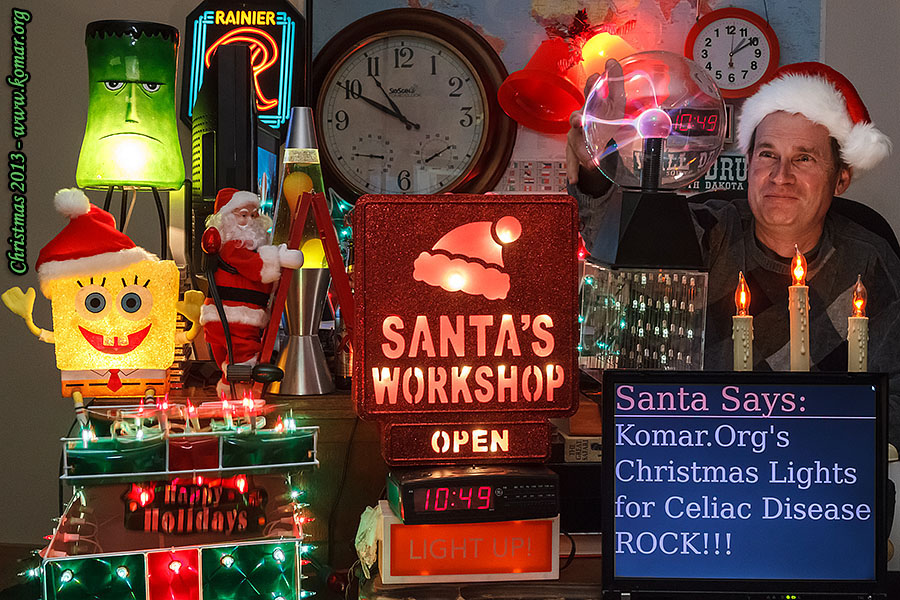 christmas lights santa workshop