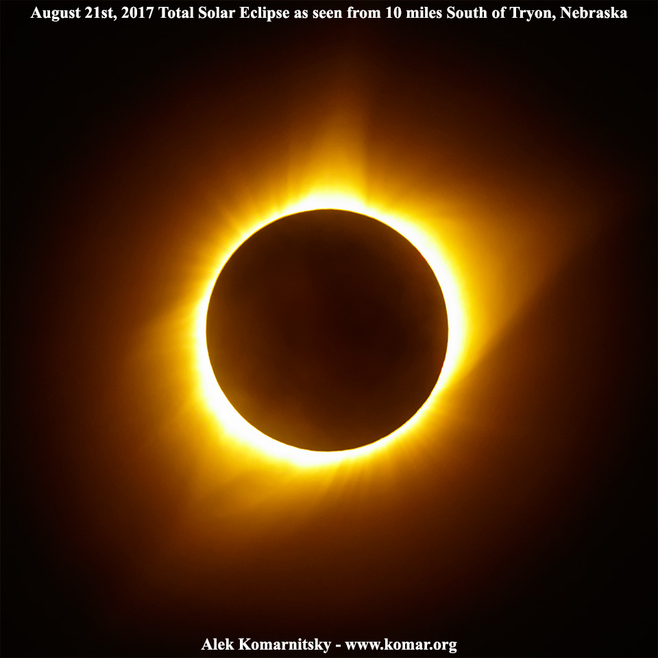 August 21st 2017 Total Solar Eclipse at Tryon Nebraska AWESOME