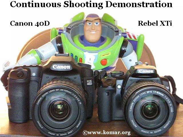 Canon 40D versus Rebel XTi 400D Continuous Shooting Sound