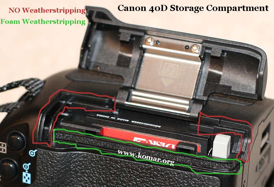 Canon 40D Weatherproofing - not 100%