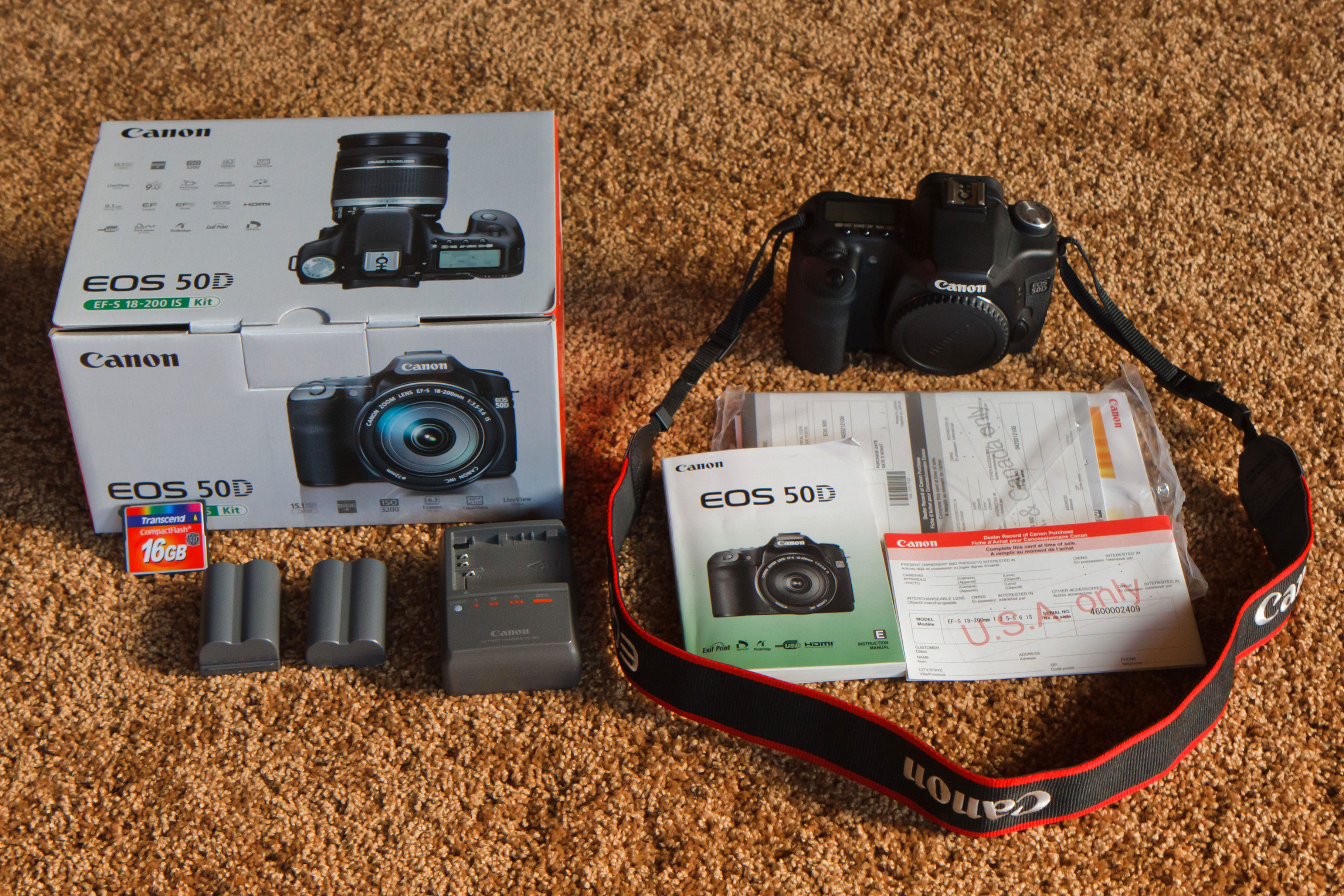 For sale: canon 50d with extras $750.