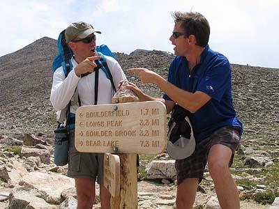 Hiking up Longs Peak Colorado