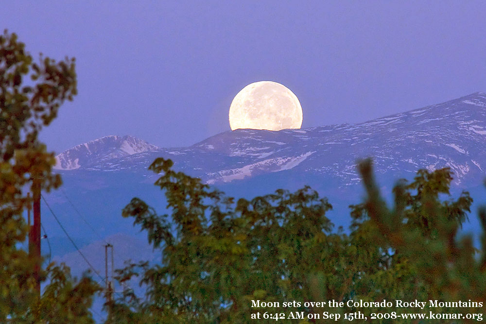 moonset colorado rockies