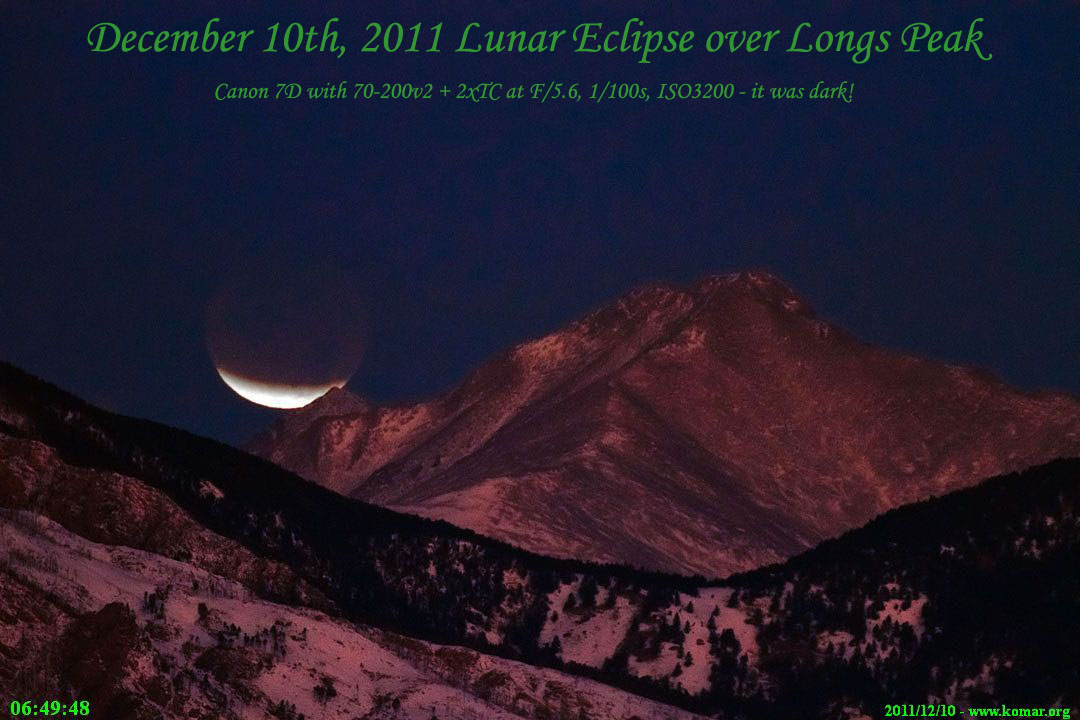 lunar eclipse colorado rockies