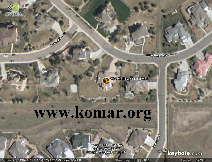 Satellite photo of my house for See images of my house