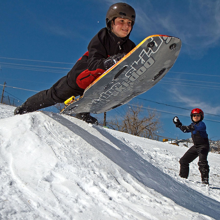 Colorado Sled Riding Hills Snow Sledding