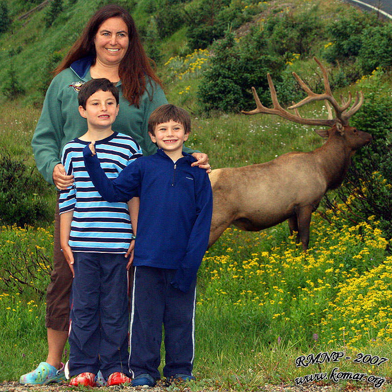 Wendy, Dirk, Kyle, and Elk