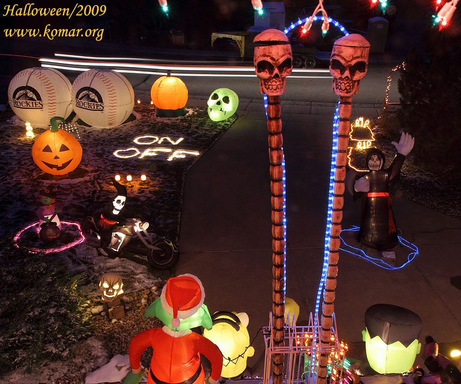 halloween pictures front yard