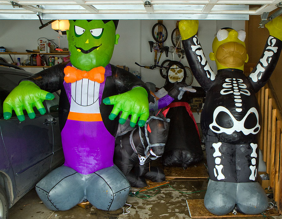 halloween inflatable dry out