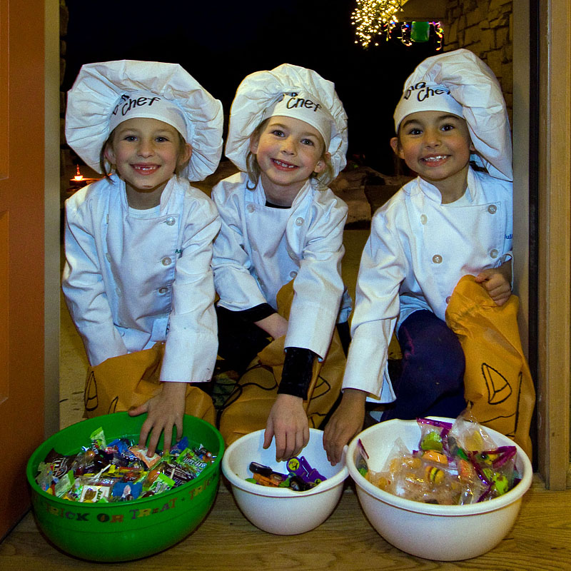 halloween trick or treaters chef