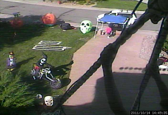 halloween garage sale