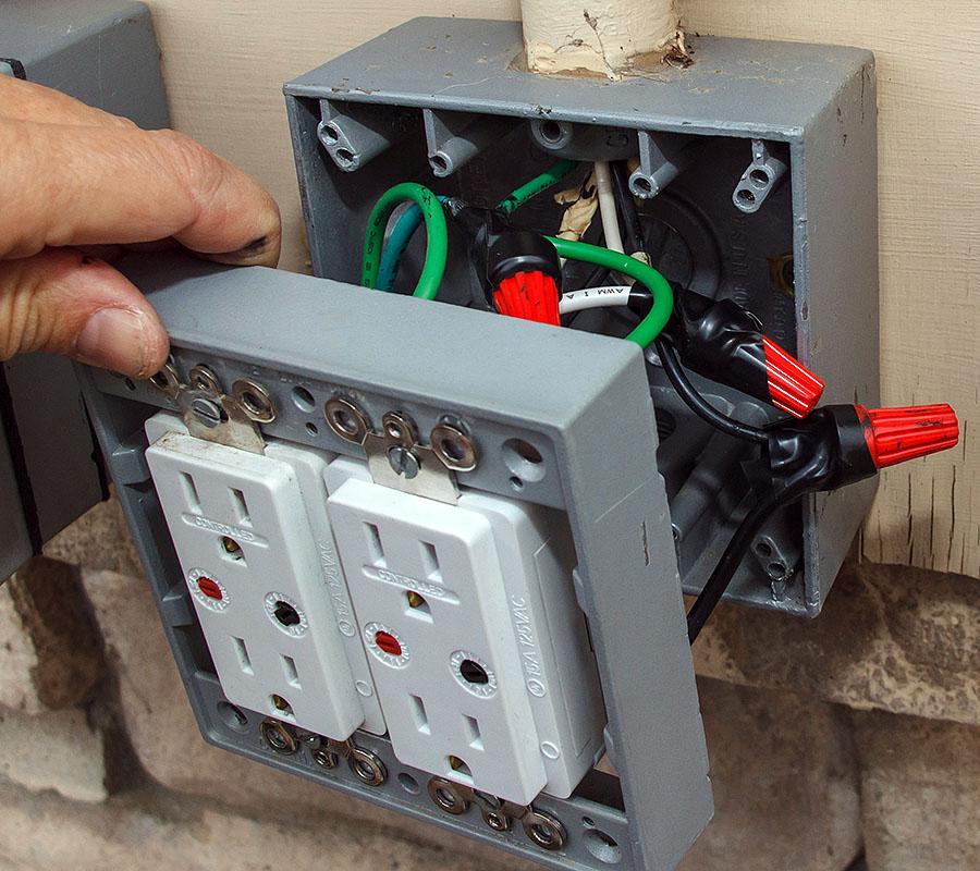 how to fix a broken wall socket
