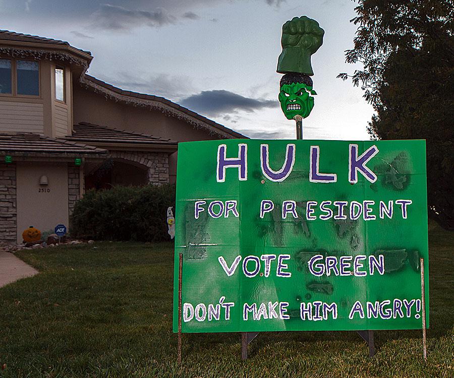 halloween hulk for president