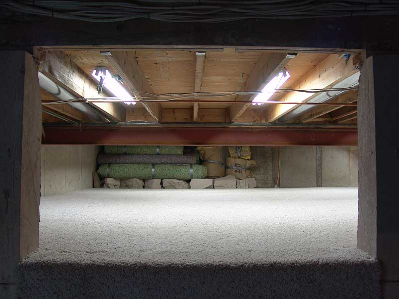 basement carpet view from the pre existing cut out