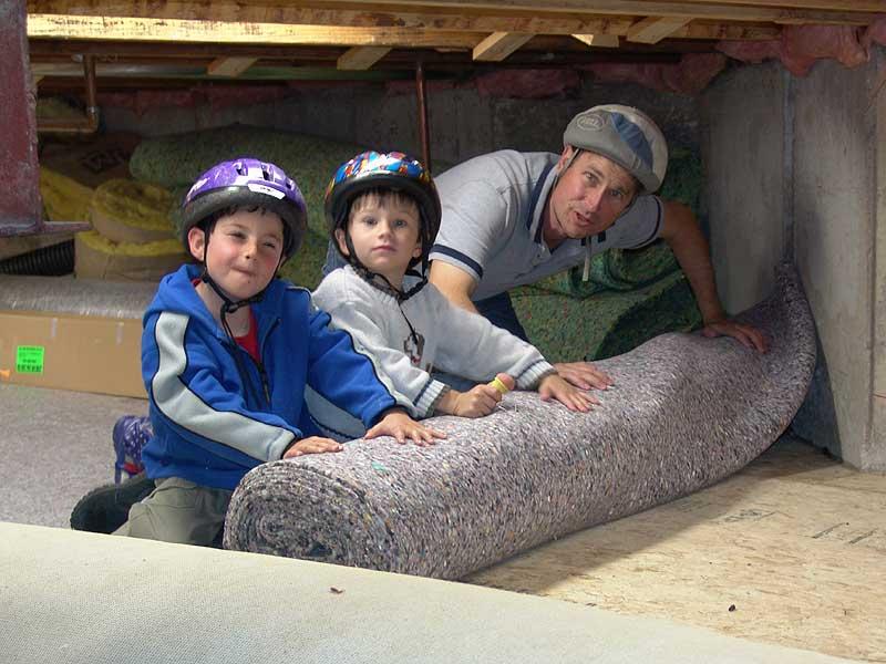 Basement Carpet Pad - Rooms