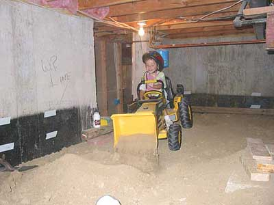 Basement crawl space finally finished for Crawl space excavation cost