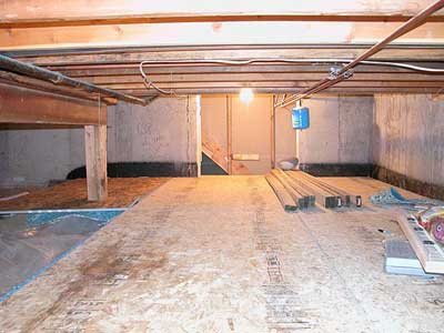 basement crawl space finally finished