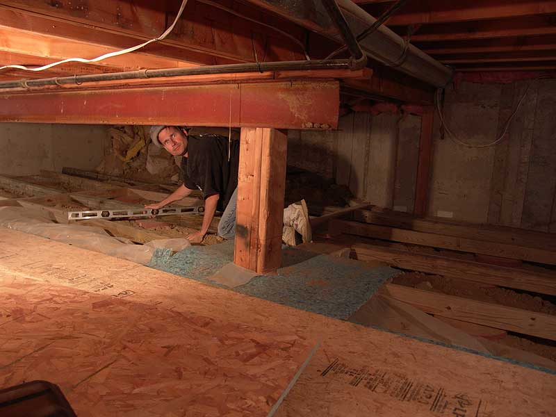 Watch your head in the basement crawl space for Making a crawl space into a full basement