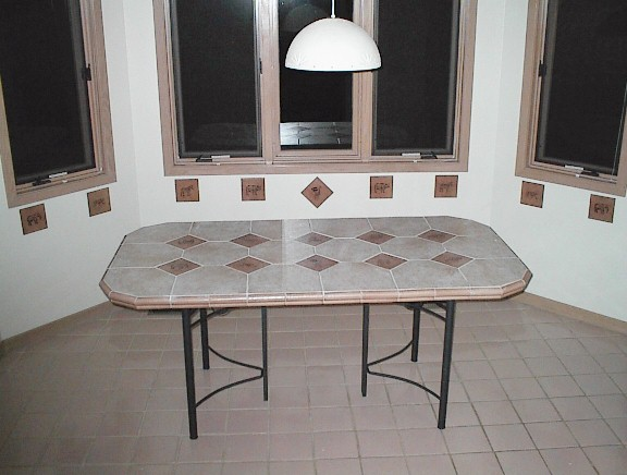 Ceramic Tile Kitchen Table